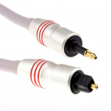 PEARL Digital Optical Audio Cable 6mm TOSlink Plug to 3.5mm...