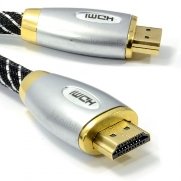 HQ Braided 4k 2k High Speed HDMI TV Cable Metal Ends 1m