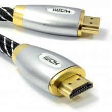 HQ Braided 4k 2k High Speed HDMI TV Cable Metal Ends 1.5m