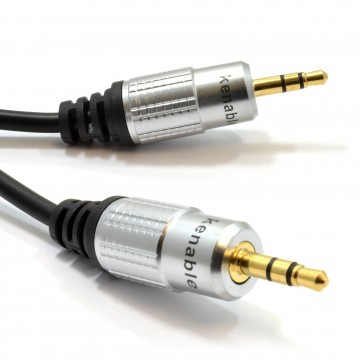 Pro Audio 3.5mm Stereo Jack to Jack Sound Cable Lead Gold 0.5m 50cm