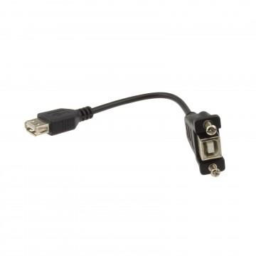 USB 2.0 Panel Mount Printer B Female To A Female Socket 15cm...
