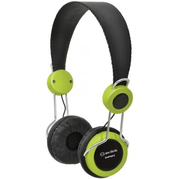 Childrens/Classroom Smaller Headphones with Mic 3.5mm Jack Green