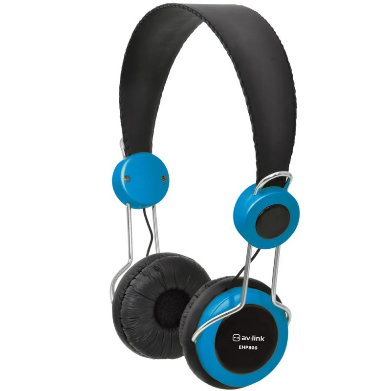 Childrens/Classroom Smaller Headphones with Mic 3.5mm Jack BLUE