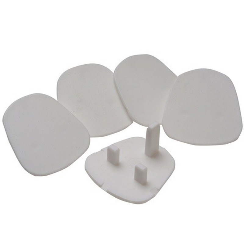 Safety Plugs for UK Mains Sockets (5 Pack)