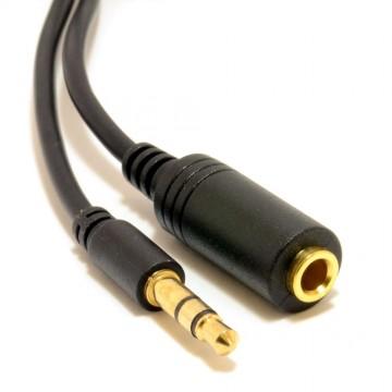 Slimline PRO 3.5mm Jack to Stereo Jack Socket Headphone Extension Cable   0.5m