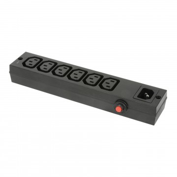 IEC 10A 250V C14 6 Way PDU with Overload Switch for Office or Home