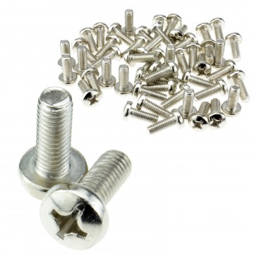 M6 Bolts 6mm Thread 16mm length Replacement Cage Nut Bolt [50 Pack]