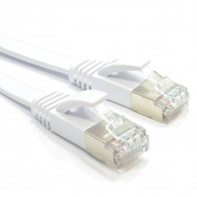 FLAT CAT6A S/STP Shielded 500MHz Ethernet LAN Cable RJ45...
