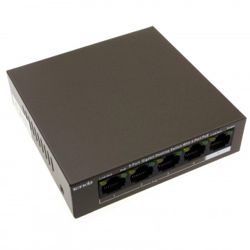 Tenda 5 Port Network Switch with 4 x POE RJ45 GIGABIT for Internet or CCTV