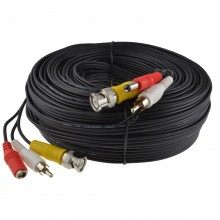 CCTV Lead BNC Video RCA Phono Audio and 2.1mm DC Power Cable 30m