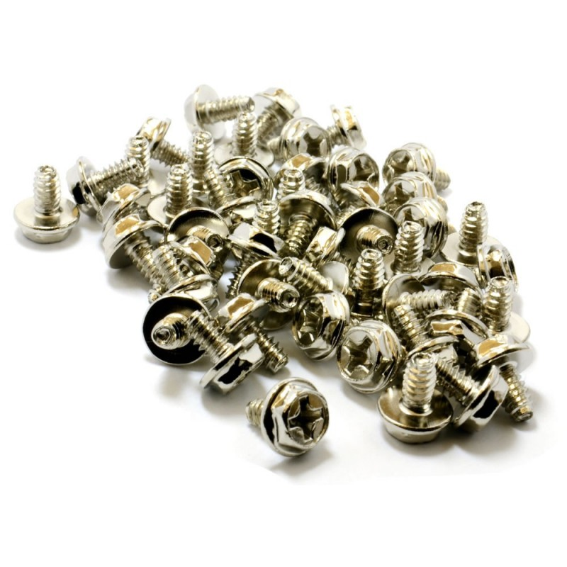 Replacement PC Mounting Screws No6-32 x 1/4in Long Standoff [50 Pack]