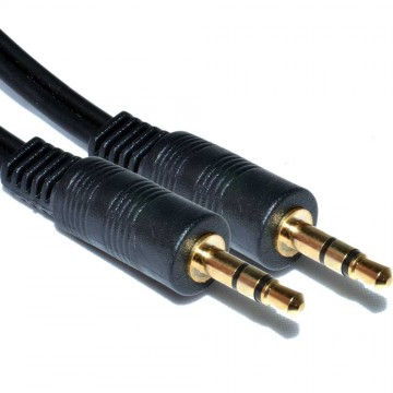 3.5mm Stereo Jack to Jack Audio Cable Lead Gold  7.5m