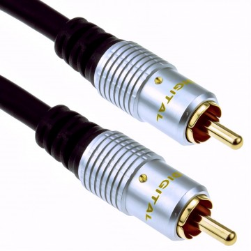 Pure OFC Digital Audio or Composite Cable Phono Plug to Plug...