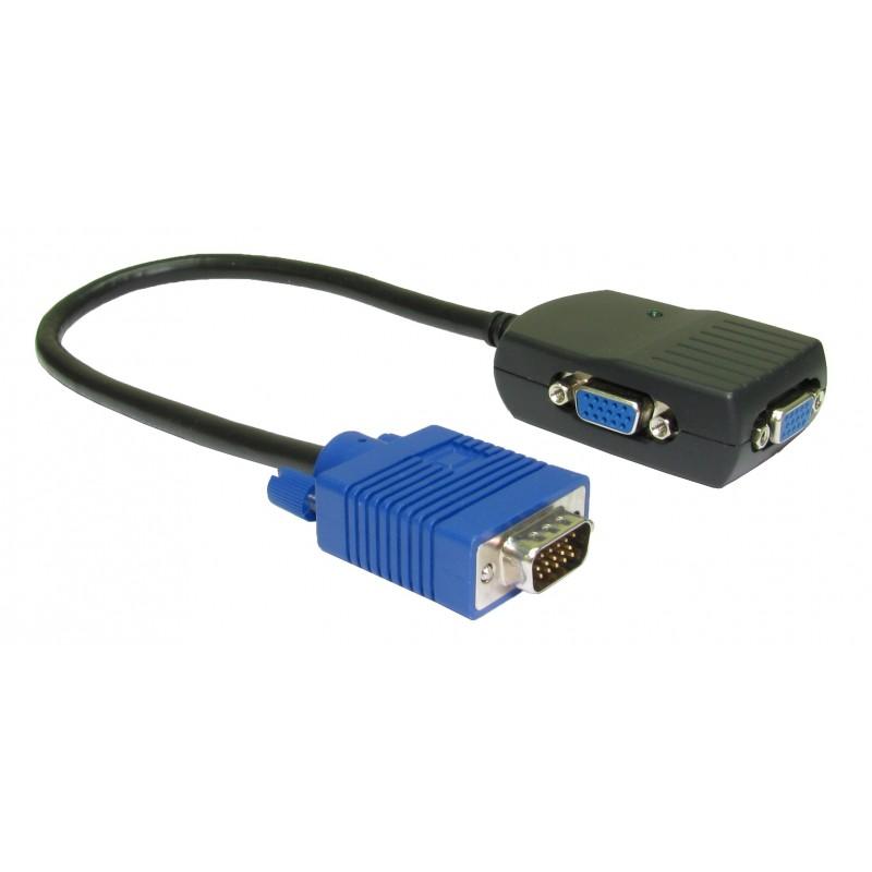NewLink Portable Video Distribution Amplifier VGA Splitter Cable