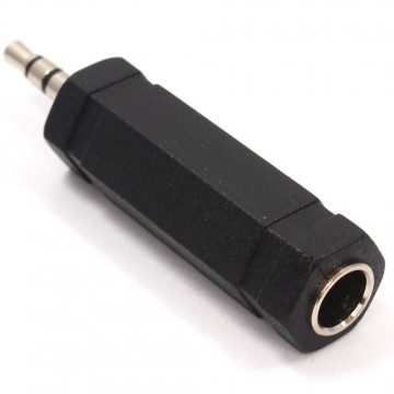 6.35mm Stereo Jack socket to 3.5mm Stereo Jack Plug Adapter