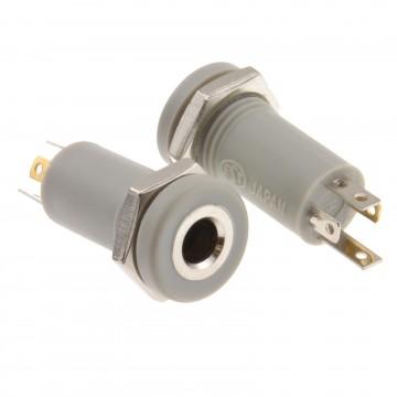 3.5mm Jack 4 Pole Solder Panel Mount Terminal AV Adapter [2 Pack]