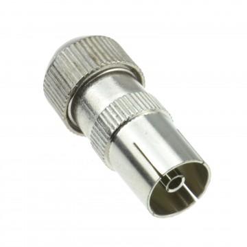 TV RF Female Self Crimping Coax Plug for Coaxial Cables