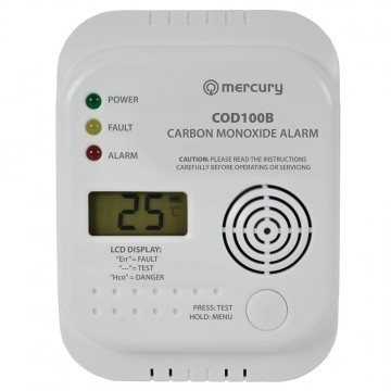 Mercury Carbon Monoxide House Office Alarm with LCD Display