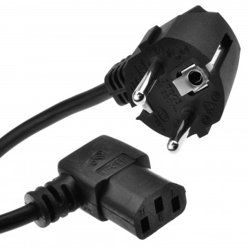 2 Pin Euro SCHUKO to Right Angle IEC C13 Kettle Lead Power...