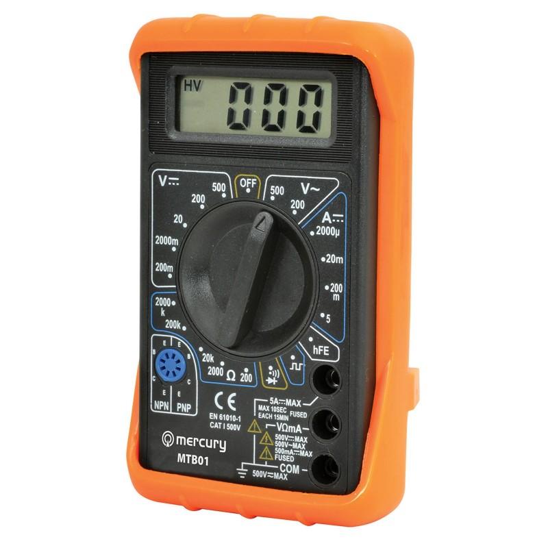 MTB01 Digital Multimeter Tester with Leads 19 Testing Ranges & 7 Functions