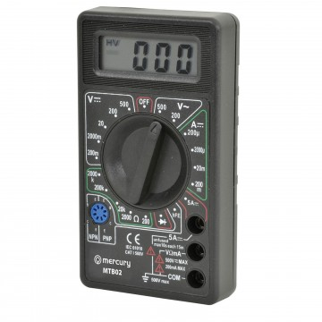MTB02 Digital Multimeter Tester with Leads 19 Testing Ranges & 6 Functions