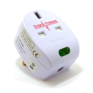 Surge Protected Fused 13A UK Rewireable Plug with Surged Pass...