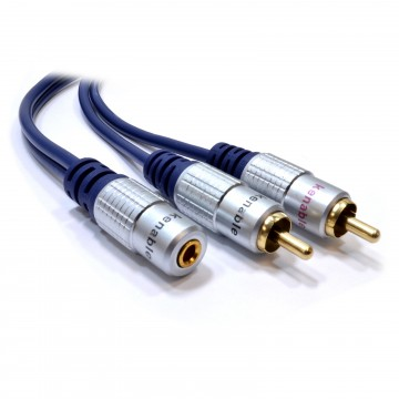 PURE 3.5mm Stereo Jack Socket to 2 Phono Plugs Audio Extension...