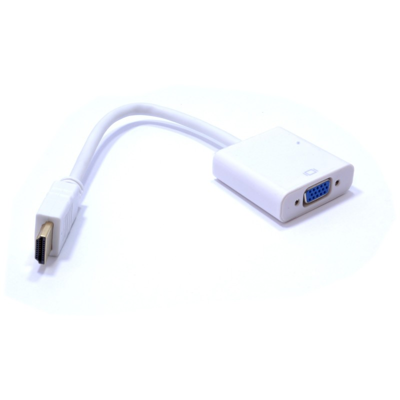 HDMI 1080p to SVGA 15 pin Video Adapter Cable with Audio & USB Socket