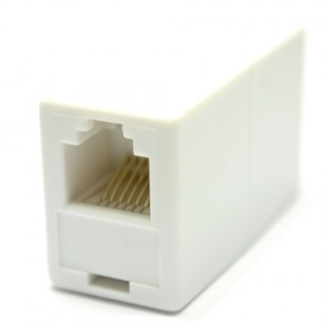 RJ11 or RJ12 6P6C 6 Pin Female Coupler Adapter for Joining Cables -