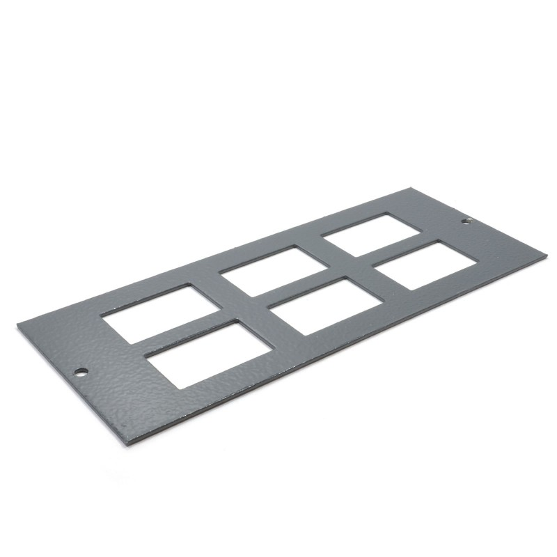 6 Way Data Plate 6C Cut Outs for Cavity Floor Box 06298
