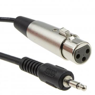 3.5mm Mono Jack (PC/Laptop) to XLR Female (Mixer/Speaker)...