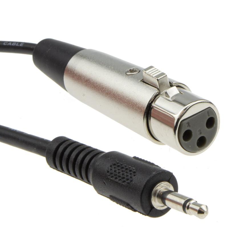 3.5mm Mono Jack (PC/Laptop) to XLR Female (Mixer/Speaker) Cable 5m