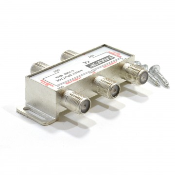 F-Type Screw Connector Splitter For Virgin Cable 5-1GHz 4 way