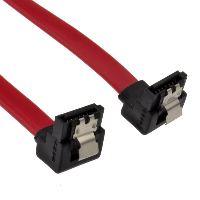 LOCKING Right Angle SATA Plug to Right Angle SATA Plug Cable Lead 90cm