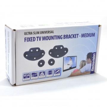 Low Profile Fixed TV Mounting Bracket 5mm Profile 26-55 Inch VESA 400