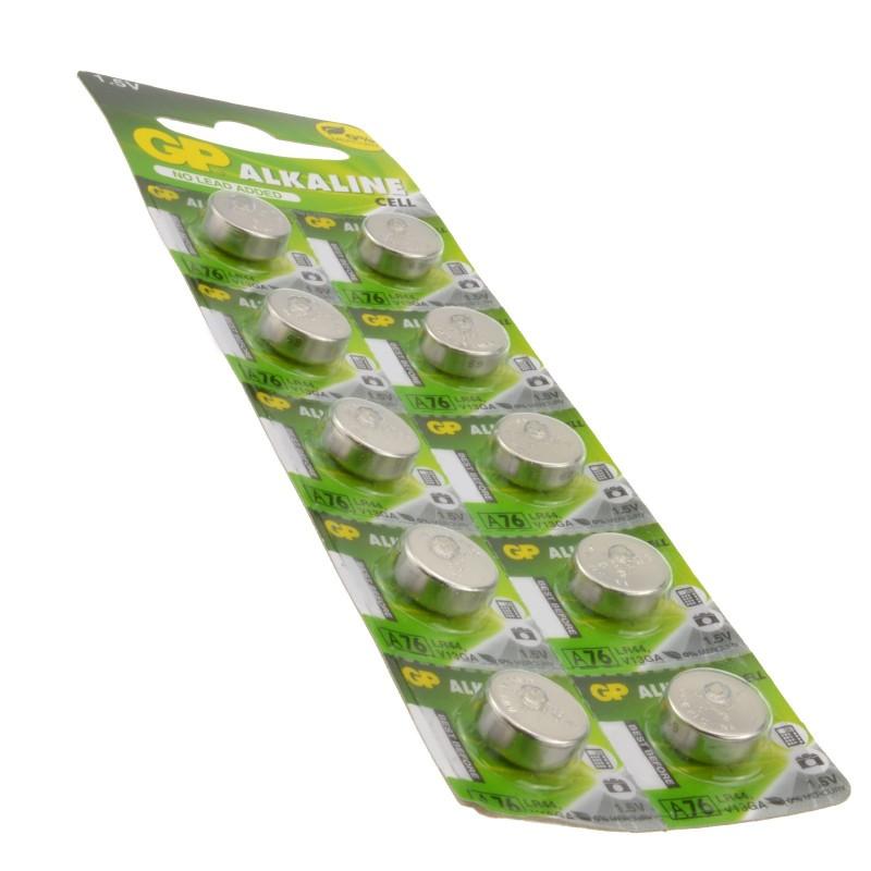 GP Alkaline Cell Battery LR44 A76 V13GA PX76A AG13 1.5V [10 Pack]