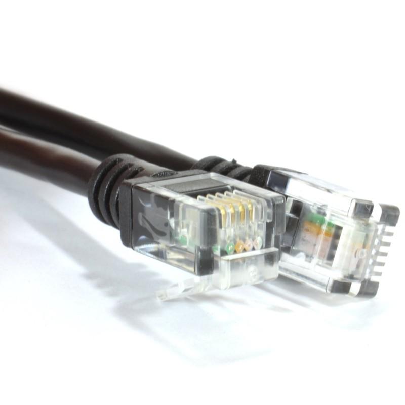 ADSL 2+ High Speed Broadband Modem Cable RJ11 to RJ11  3m BLACK