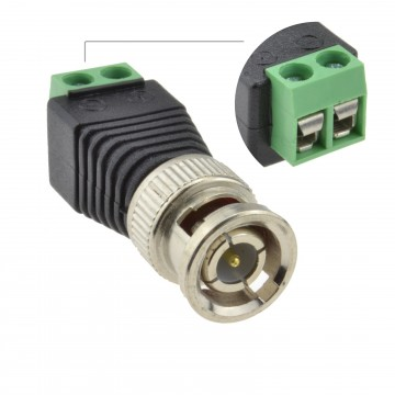 BNC Male Plug CCTV Video Easy Wire Screw Connectors [Single Unit]