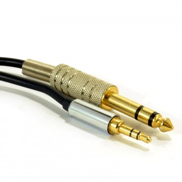 PRO OFC 3.5mm Stereo Jack Plug to 6.35mm Stereo Jack Plug Cable 5m