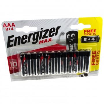 Energizer MAX AAA LR03 10 Year Shelf Life 1.5V Batteries [12...