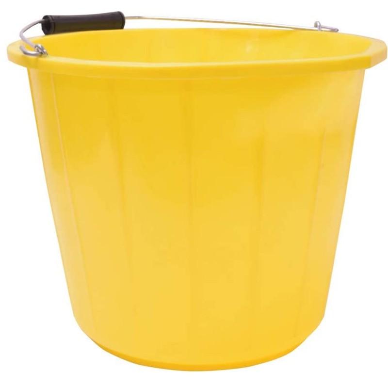Mercury Heavy Duty Builders/Mixing Bucket 14 Litre with Measurement Lines Yellow