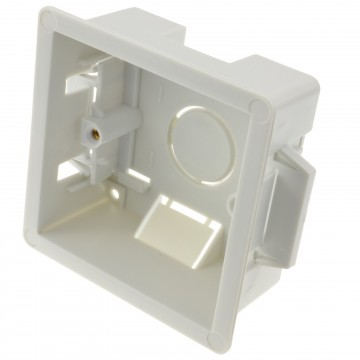 Dry Lining Plasterboard Back Box Pattress Box 1 Gang 35mm
