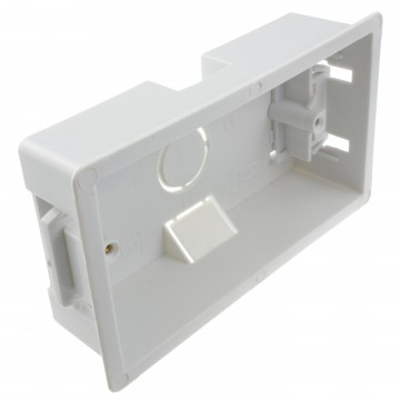 Dry Lining Plasterboard Back Box Pattress Box 2 Gang 35mm