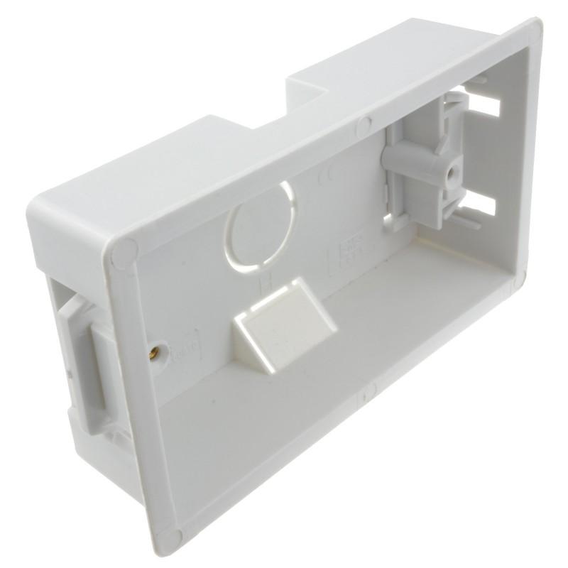 Dry Lining Plasterboard Back Box Pattress Box 2 Gang 35mm
