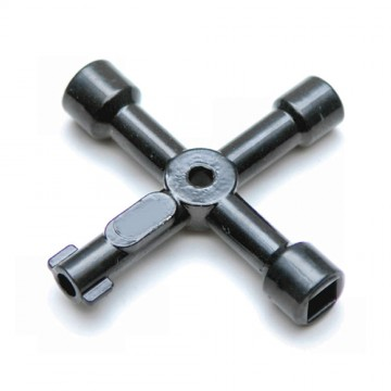 4 Way Service Utility Key For Gas Water Electric Cupboards +...