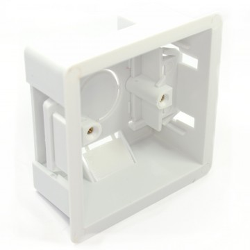 Dry Lining Plasterboard Back Box Pattress Box 1 Gang 47mm