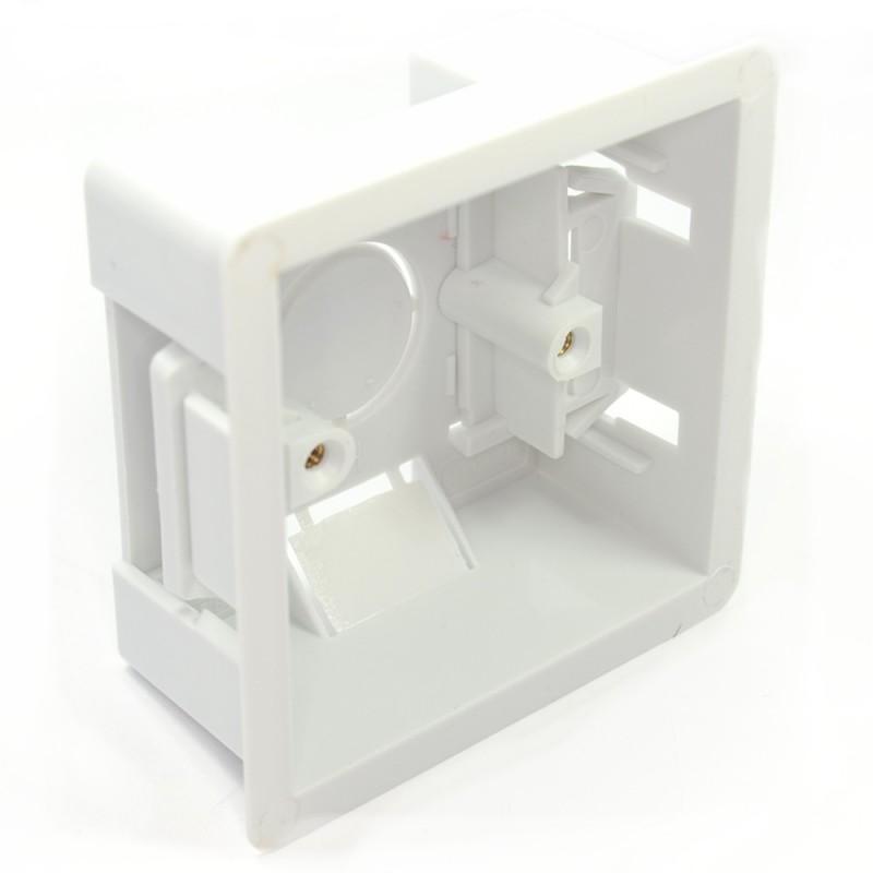 Dry Lining Plasterboard Back Box Pattress Box 1 Gang 47mm
