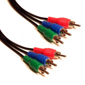 RGB Component Video Lead 3 Phonos To 3 RCA Phono Cable 50cm