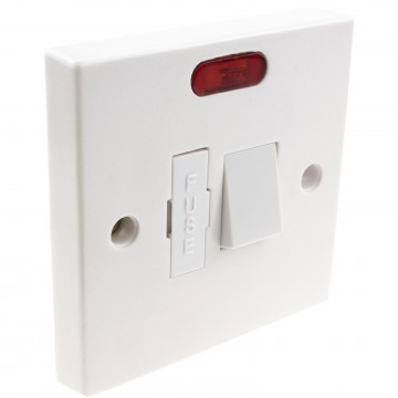 Electrical Domestic UK 13A Fused Spur with Switch and LED in...