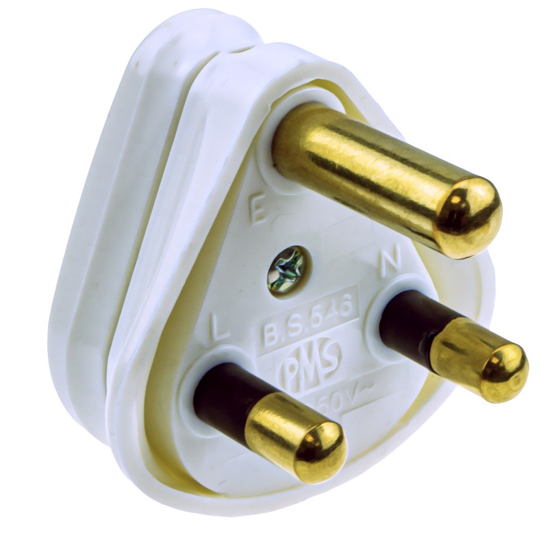 3 ROUND PIN Power Plug for Industrial 15A Sockets Unfused BS546